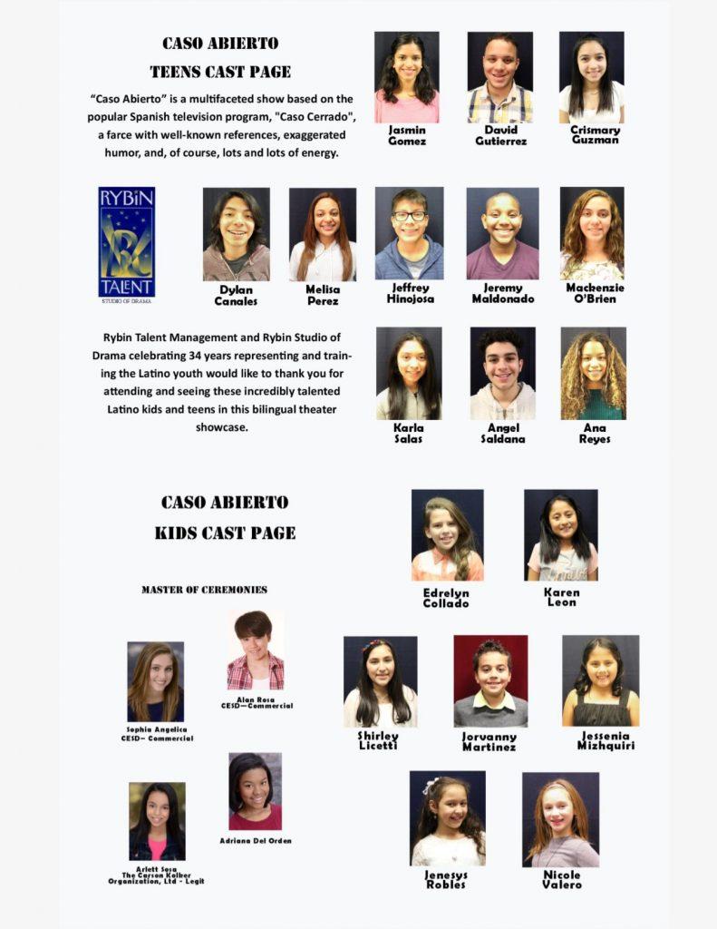 Cast Page