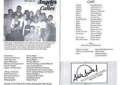 Angeles en las Calles Cast